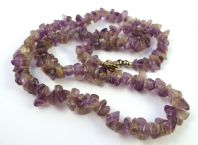 Amethyst Gemstone Chip Necklace.